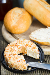 Sweet cream cheese with nuts
