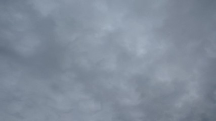Time lapse of the fast moving deep clouds in the sky.