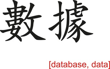 Chinese Sign for database, data