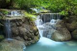 lime stone water fall in arawan water fall national park kanchan