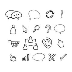 Нарисованные от руки иконки для сайта