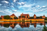 HDR image of medieval castle in Malbork with reflection - 67418264
