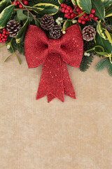 Christmas Red Bow Decoration