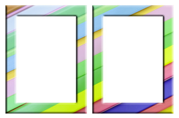 colorful plastic frame