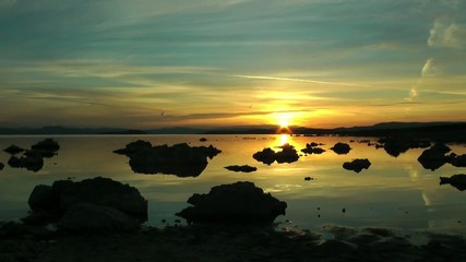 Mono Lake, Sonnenaufgang, Zeitraffer, USA