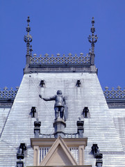 Soldier statue on the roof