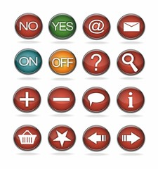 3D realistic buttons for webpage
