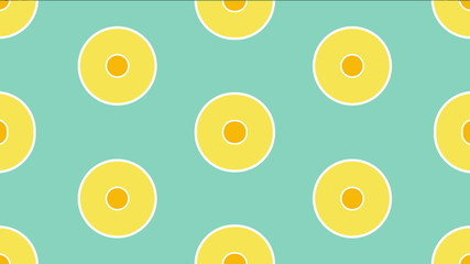 Circles retro Pattern animated.