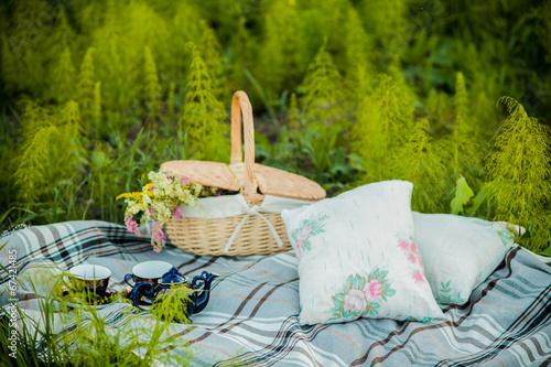 canvas print picture summer picnic