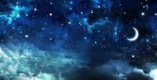 "Постер, картина, фотообои ""beautiful background, nightly sky"""