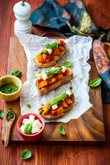 Bruschetta with roasted pumpkin