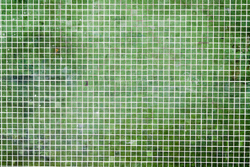 grunge Green mosaic tiles background