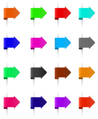 set of different colours bookmarks
