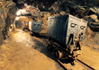 Leinwandbild Motiv Underground mine tunnel, mining industry