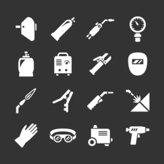 Set icons of welding