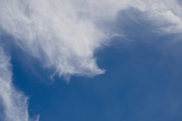 Wispy High Cirrus Clouds in a Blue Sky