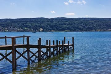 Steg auf der Insel Reichenau