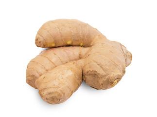 fresh ginger on a white background
