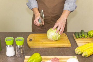 cook chopped cabbage