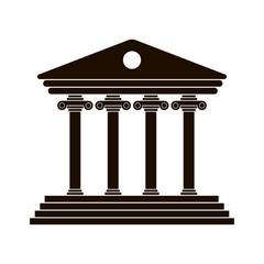 black Greek colonnade