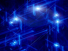 Blue neon futuristic abstract background