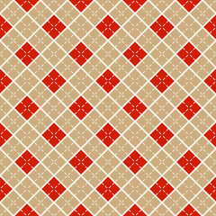 Seamless pattern with diamonds. Vector background.