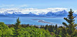 Alaskan mountain and bay, Homer Spit, Kenai Peninsula