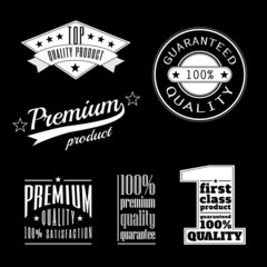 Vintage labels - premium and top quality products