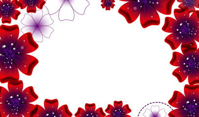 Brochure design, vector abstract background with beautiful
