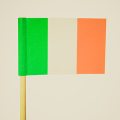 Retro look Irish flag