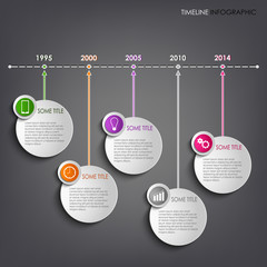 Time line info graphic round template background