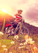canvas print picture - e-biking 01