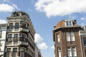 Buildings on the Street in Utrecht - Old City in The Netherlands