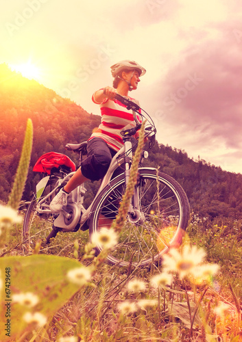 canvas print picture e-biking 01