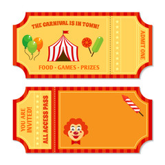 Circus tickets template