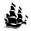 İllüstrasyon Denizcilik İkonu Kalyon