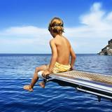 Boy and sea