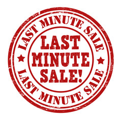 Last minute sale stamp