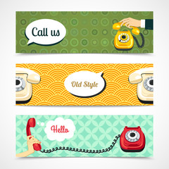 Old telephone banners horizontal