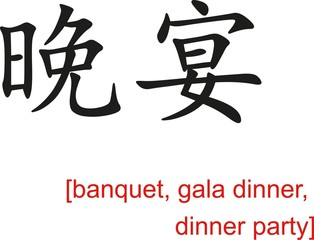 Chinese Sign for banquet, gala dinner, dinner party