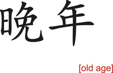 Chinese Sign for old age