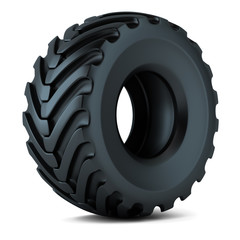 Tractor tire isolated 3D