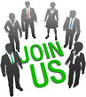Join Us business company people HR