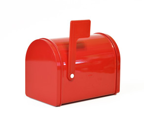 Red, mail, box