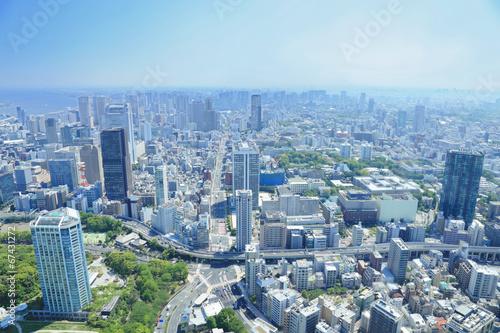 Deurstickers Tokyo 東京タワーからの眺め