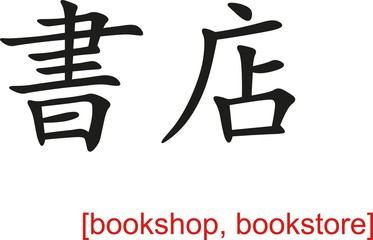 Chinese Sign for bookshop, bookstore