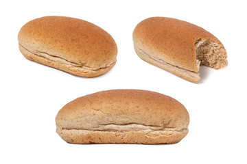 Set of wholemeal sandwich bread, clipping path