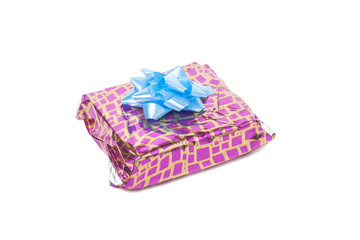 Gift box, clipping path, isolated