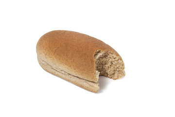Wholemeal sandwich bread, clipping path