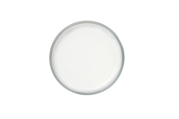 glass of milk top view, clipping path, isolated